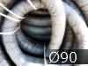 Дренажные трубы  ?90мм с фильтром из геотекстиля черные