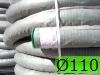 Дренажные трубы  ?110мм с фильтром из геотекстиля зеленые