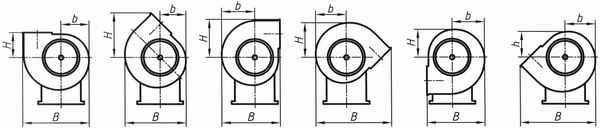 Вентиляторы ВЦ 14-46 правого вращения